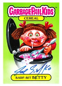 Joe Simko autographed Garbage Pail Kids Barf-Bit Betty 2019 Comic-Con promo card MINT