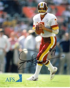 Joe Theismann autographed Washington Redskins 8x10 promotional photo