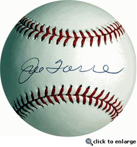 Joe Torre autographed Rawlings American League baseball