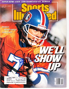 John Elway autographed Denver Broncos 1988 Sports Illustrated