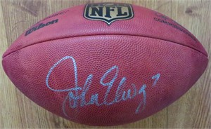 John Elway autographed Wilson NFL game model football