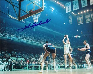 John Havlicek autographed Boston Celtics 8x10 free throw photo