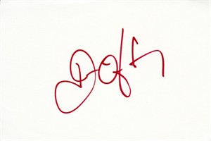 John O'Hurley autographed index card