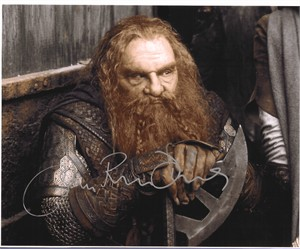 John Rhys-Davies autographed 8x10 Lord of the Rings Gimli photo