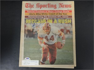 John Riggins autographed Washington Redskins 1983 Sporting News cover (PSA/DNA)
