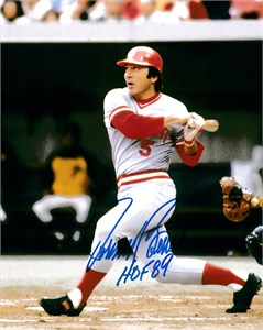 Johnny Bench autographed Cincinnati Reds 8x10 portrait photo