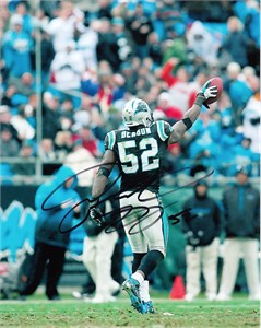 Jon Beason autographed Carolina Panthers 8x10 photo