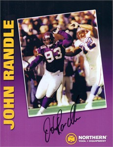 John Randle autographed Minnesota Vikings promotional photo