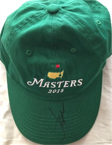 Jordan Spieth autographed 2015 Masters green golf cap or hat
