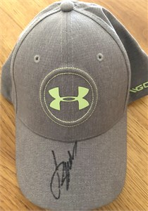 Jordan Spieth autographed Under Armour green cap or hat