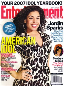 Jordin Sparks autographed American Idol 2007 Entertainment Weekly magazine
