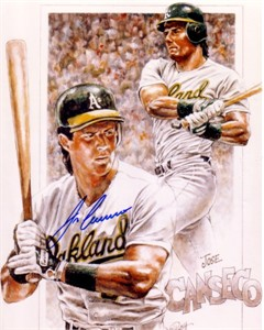 Jose Canseco autographed Oakland A's 8x10 art print