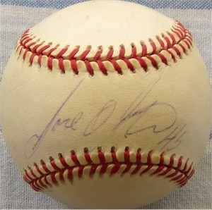 Jose Oliva autographed National League baseball