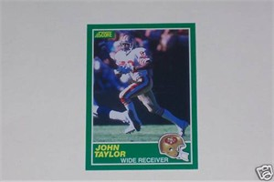 John Taylor 49ers 1989 Score Rookie Card 238 Nrmt Mt