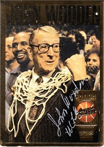 John Wooden certified autograph UCLA Action Packed Hall of Fame card