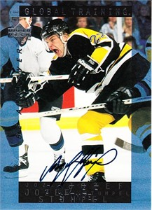 Jozef Stumpel certified autograph Boston Bruins 1995 Be A Player card