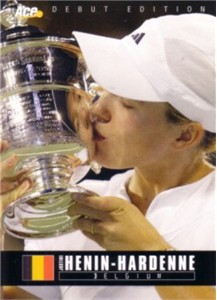 Justine Henin-Hardenne 2005 Ace Authentic Rookie Card