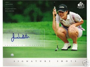 Juli Inkster (LPGA) certified autograph 2004 SP Signature Golf 8x10 photo card