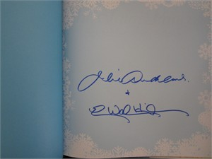Julie Andrews autographed The Very Fairy Princess Sparkles in the Snow hardcover book