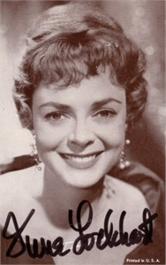 June Lockhart autographed vintage photo card