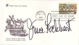 June Lockhart autographed 1982 First Day Cover cachet envelope