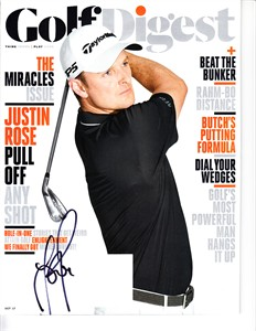 Justin Rose autographed 2017 Golf Digest magazine
