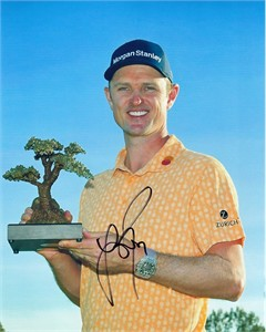 Justin Rose autographed 2019 PGA Farmers Insurance Open 8x10 trophy photo