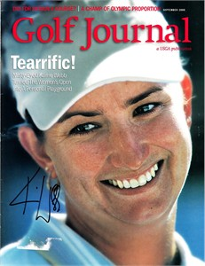 Karrie Webb autographed 2000 U.S. Women's Open USGA Golf Journal magazine cover