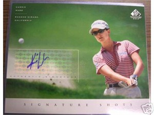 Karrie Webb certified autograph 2004 SP Signature 8x10 photo card