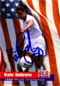 Kate (Sobrero) Markgraf autographed 1999 Women's World Cup Champions card