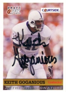 Keith Goganious Penn State certified autograph Courtside card