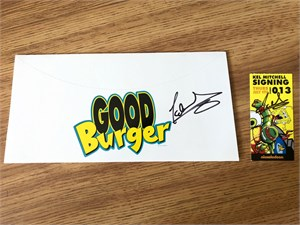 Kel Mitchell autographed Good Burger 2015 Comic-Con promo hat & ticket