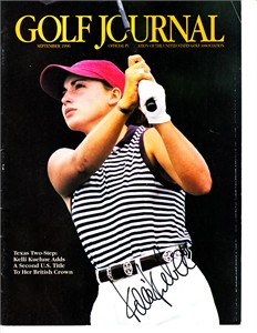Kelli Kuehne autographed 1996 Golf Journal magazine