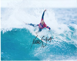 Kelly Slater autographed 8x10 surfing photo