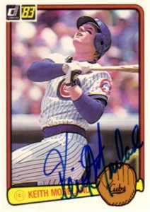 Keith Moreland autographed Chicago Cubs 1983 Donruss card