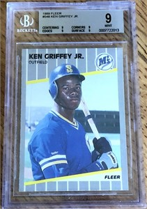 Ken Griffey Jr. Seattle Mariners 1989 Fleer Rookie Card #548 BGS graded 9 MINT