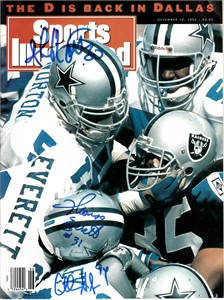 Charles Haley Ken Norton Jr. Thomas Everett autographed Dallas Cowboys 1992 Sports Illustrated