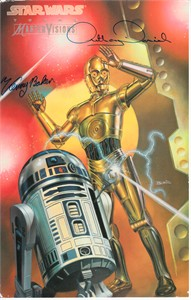 Kenny Baker & Anthony Daniels autographed Star Wars R2-D2 & C-3PO jumbo card PSA/DNA