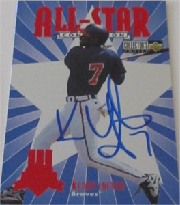 Kenny Lofton autographed Cleveland Indians 1997 All-Star Game card