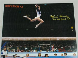 Kerri Strug autographed 8x10 gymnastics photo