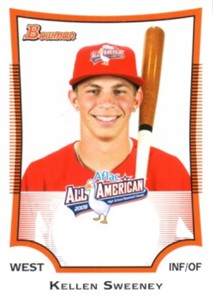 Kellen Sweeney 2009 AFLAC Bowman Rookie Card