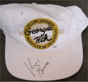 Kevin Brown autographed Georgia Tech Yellow Jackets cap or hat