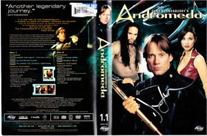 Kevin Sorbo autographed Andromeda DVD set cover insert