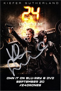 Kiefer Sutherland autographed 24 Live Another Day 2014 Comic-Con 4x6 promo card (JSA)