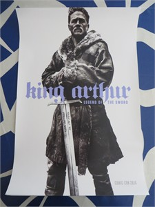 King Arthur 2016 Comic-Con exclusive 13x20 inch movie poster Charlie Hunnam