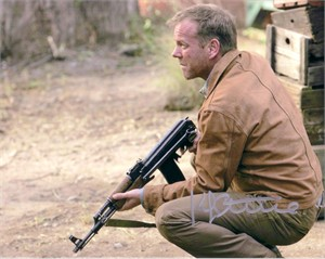 Kiefer Sutherland autographed 24 8x10 Jack Bauer photo