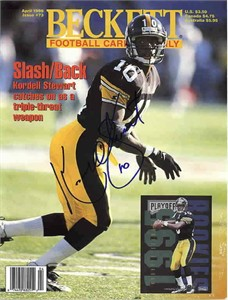Kordell Stewart autographed Pittsburgh Steelers Beckett Football cover