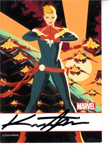 Kris Anka autographed Captain Marvel 2016 Comic-Con comic book card