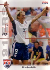 Kristine Lilly 2004 U.S. Women's National Team 91ers soccer card