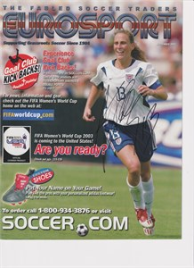 Kristine Lilly autographed 2003 U.S. National Team Eurosport catalog